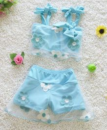 Pre Order - Mauve Collection Shorts & Top Swimsets - Sky Blue