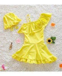Pre Order - Mauve Collection One Shoulder Swimsuit - Yellow