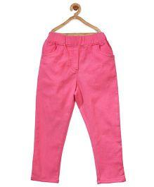 Stylestone Stretchable Denim Jeggings - Fuchsia Pink