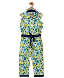 Stylestone Flower Printed Contrast Jumpsuit - Multicolour