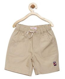 Campana Shorts With Drawstring - Beige