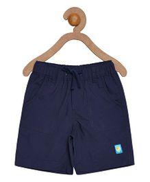 Campana Shorts With Drawstring -  Navy Blue
