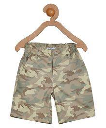 Campana Shorts - Green Brown Yellow