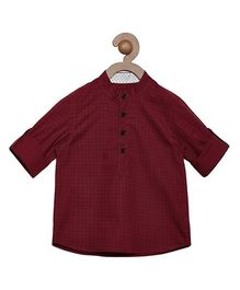 Campana Full Sleeves Check Shirt - Maroon
