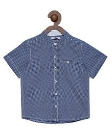 Campana Half Sleeves Shirt Fish Print - Blue