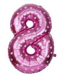Smartcraft Number 8 Foil Balloon - Pink