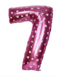 Smartcraft Number 7 Foil Balloon - Pink