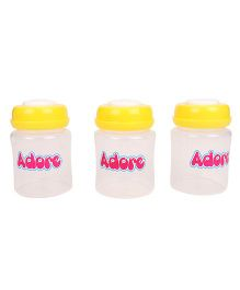 Adore Milk Storage Bottles Yellow Pack Of 3 - 150 ML