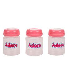 Adore Milk Storage Bottles Pink Pack Of 3 - 150 ML