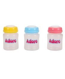 Adore Milk Storage Bottles Multicolor Pack Of 3 - 150 ML