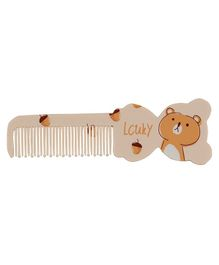 Adore Baby Comb Bear Shape - Brown