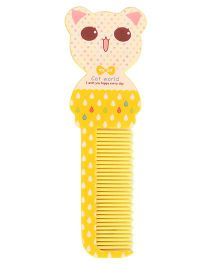 Adore Baby Comb Bear Shape - Yellow