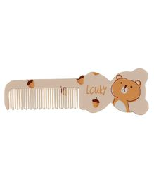 Adore Baby Comb Dog Shape - Brown