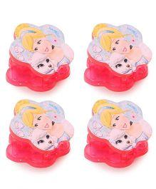 Disney Princess Hair Clutch Set Of 4 - Pink