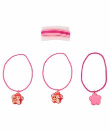 Disney Princess Kids Hair Elastics - Pink