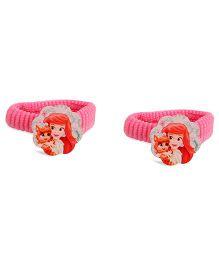 Disney Princess Kids Hair Elastics Pack Of 2 - Pink
