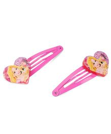 Disney Princess Kids Snap Clips Pack Of 2 - Pink