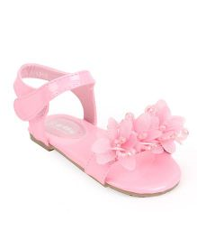 Bash Party Wear Sandals With Velcro Closure - Pink