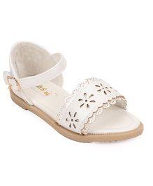 Bash Party Wear Sandals Floral Design - White