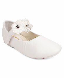 Bash Part Wear Bellies Floral Applique - White