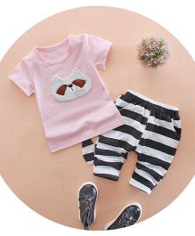 Tickles 4 U Panda Face Tee & Shorts - Pink
