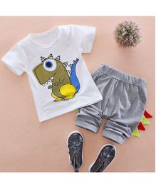 Tickles 4 U Dino Tee & Pants - White