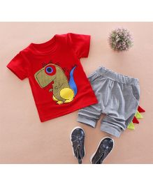 Tickles 4 U Dino Tee & Pants - Red