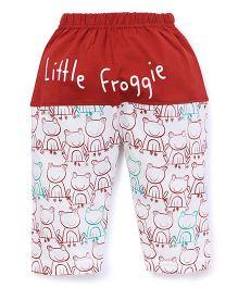 Mini Taurus Lounge Pants Little Froggie - Maroon