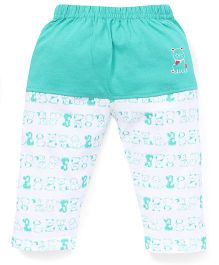 Mini Taurus Lounge Pants Puppy Print - Sea Green