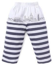 Mini Taurus Lounge Pant Stripes Print - Grey