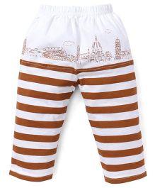 Mini Taurus Lounge Pant Stripes Print - Brown