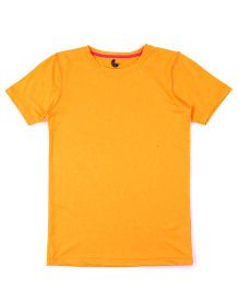 Tyge Trendy Round Neck Sports Tshirt - Orange