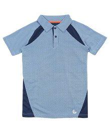 Tyge Trendy Cut N Sew Polo Sports Tshirt - Blue