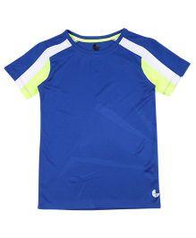Tyge Trendy Cut N Sew Roundneck Sports Tshirt - Blue