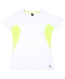 Tyge Trendy Cut N Sew Vneck Sports Tshirt - White