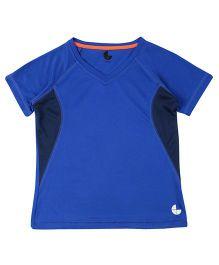 Tyge Trendy Cut N Sew Vneck Sports Tshirt - Royal