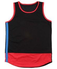 Tyge Sporty Sleeveless Basketball Vest - Black