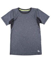 Tyge Trendy Cut N Sew Roundneck Sports T-Shirt - Blue