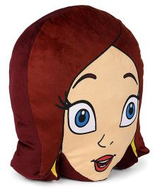 Chhota Bheem Indumati Face Cushion - Dark Brown