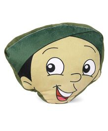 Chhota Bheem Dholu Face Cushion - Green