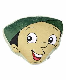 Chhota Bheem Bholu Face Cushion - Green