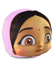 Chhota Bheem Chutki Face Cushion - Pink & Multicolor