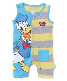 Bodycare Sleeveless Romper Donald Duck Print - Yellow Blue