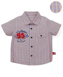 Bodycare Half Sleeves Checks Shirt With Chest Pocket - Multicolor