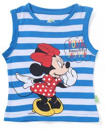 Bodycare Sleeveless T-Shirt Minnie Mouse Print - Blue White