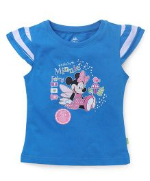 Bodycare Cap Sleeves Tee With Minnie Print - Blue