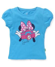 Bodycare Half Sleeves Tee Minnie Mouse Print - Blue