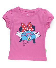 Bodycare Half Sleeves Tee Minnie Mouse Print - Pink