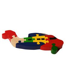 Shumee Wooden 3D Aeroplane Jigsaw Puzzle - 8 Pieces