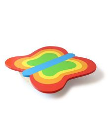 Shumee Wooden Butterfly Balance Board - Red Green Yellow